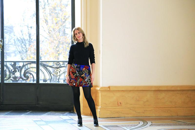 tenue de fete motif patchwork