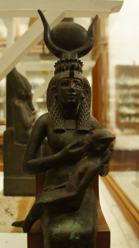 Ancient Egypt's Isis nursing Horus
