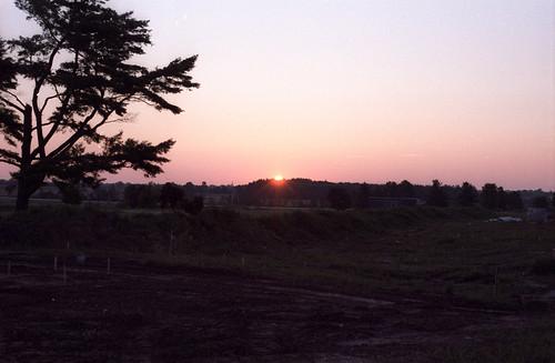 sunrise nikonfg film sturgeonbay wisconsin unitedstates us