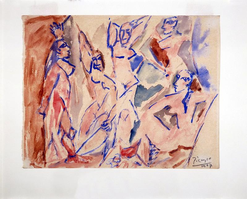 """Five Nudes (Study for """"Les Demoiselles d'Avignon"""")"""