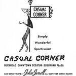 Tue, 2016-10-25 08:47 - Casual Corner Fashion Store  Ad  for St. Piux X High School in 1962 Atlanta, GA