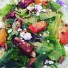 Beet and goat cheese salad.