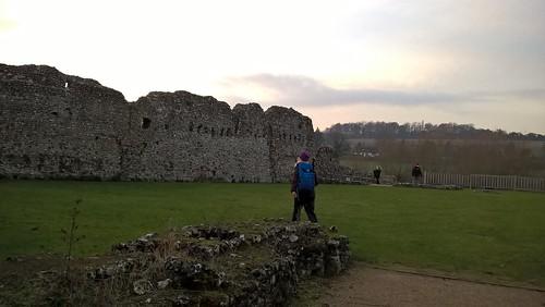 Lindsay at Eynsford Castle