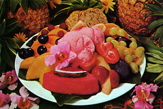 postcard - Tropical Fruit Salad, Nut Tree