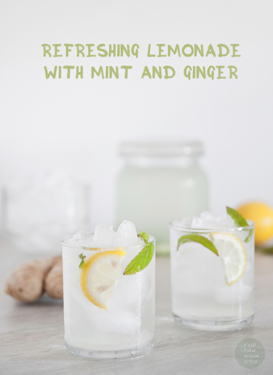 Refreshing lemonade with mint and ginger