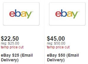 Ebay Gift Cards up to 15% off from Target
