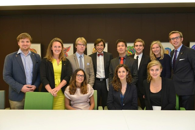 Here with the Belgian Fulbright Grantees and Erica