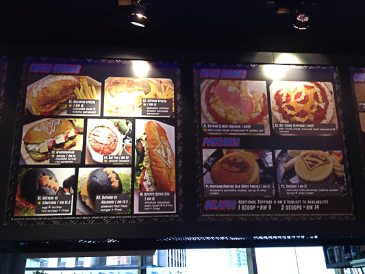 DC Comics Super Heroes Store - Menu