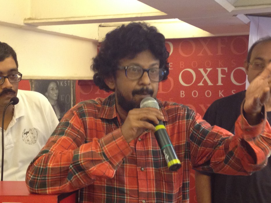 Gautam BasuMallick at Wikilearnopedia 2015 at Oxford Bookstore Kolkata, India