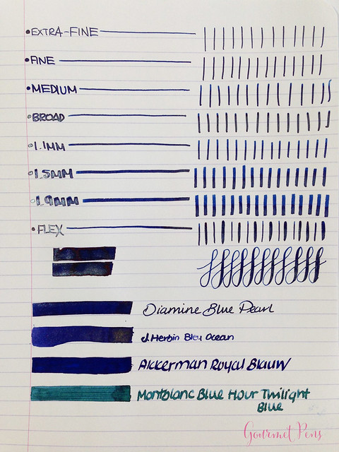 Ink Shot Review Diamine Blue Pearl (3)