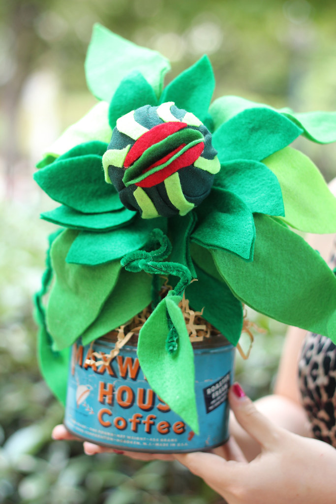 Handmade Baby Audrey II plant from Little Shop of Horrors