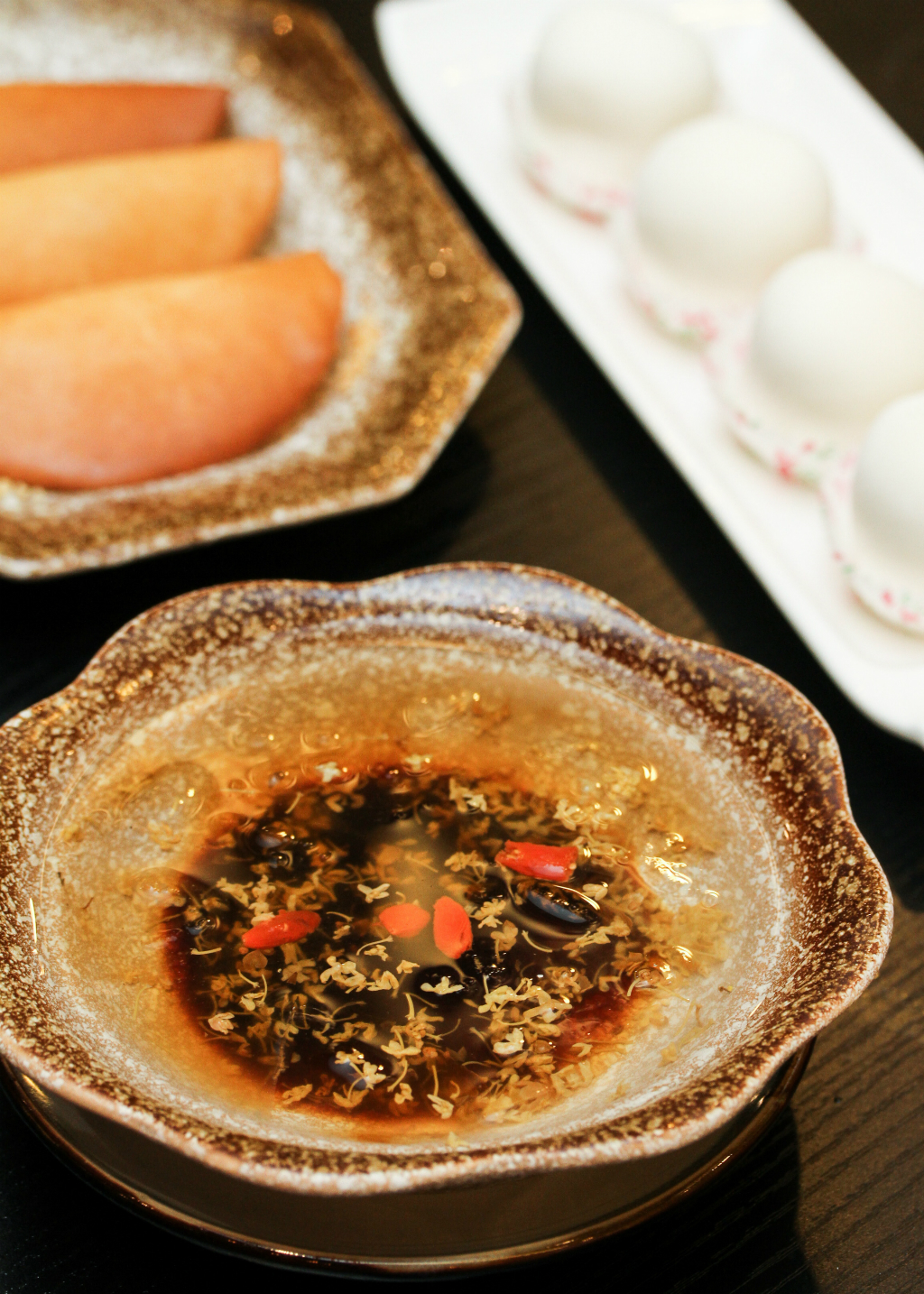 Tian Bao Szechuan Kitchen: Premium Black Sugar Ice Jelly with Osmanthus