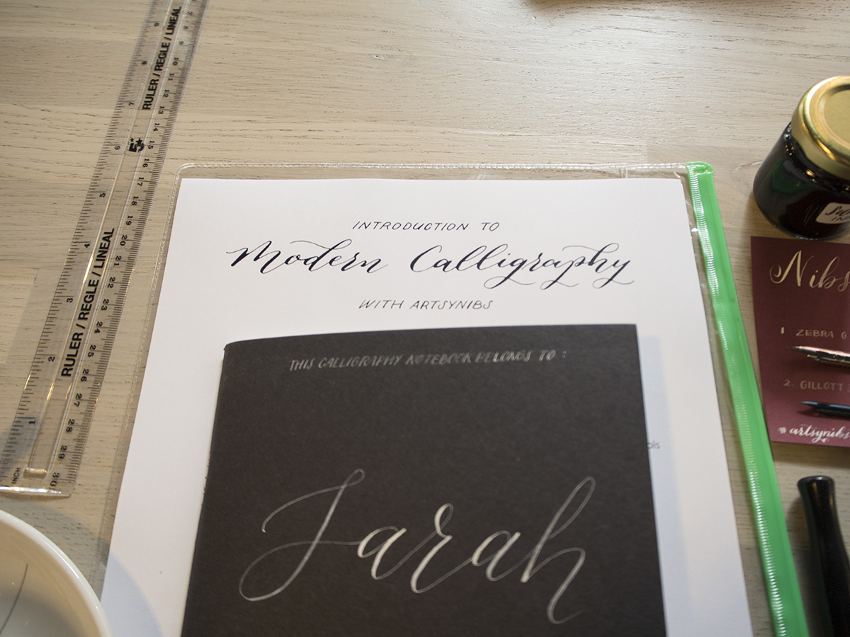 Artsynibs Intro to Modern Calligraphy Workshop in Manchester