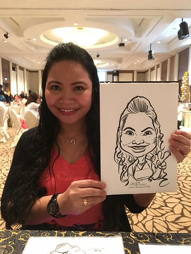 Caricature live sketching for Busy Bees Brunch 2015