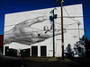 The new mural at the Academy Theater.