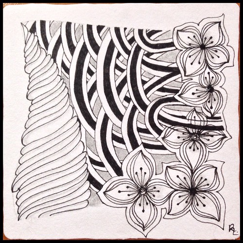 Zentangle 104 for Weekly Challenge #29: Tangle with U-N-D