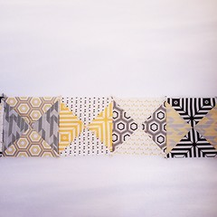 A brand-new black & white quilt. With a twist of yellow. Beginning:sparkles: