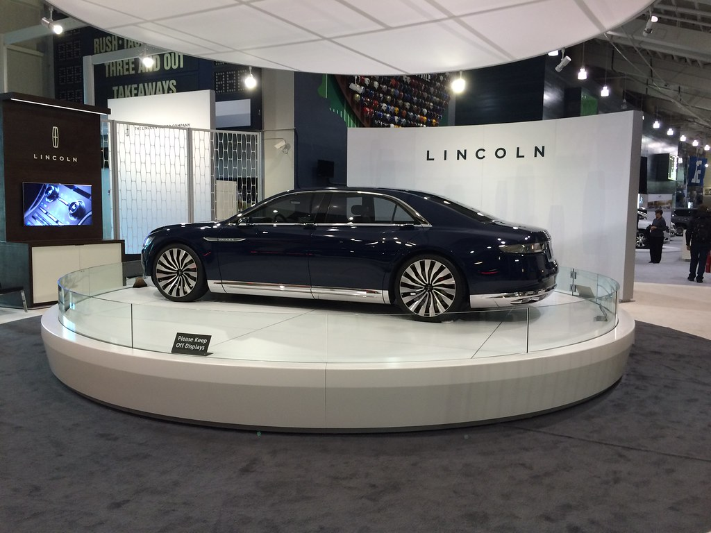 Lincoln display at auto show