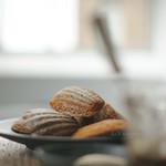 mandulás-vaníliás madeleine