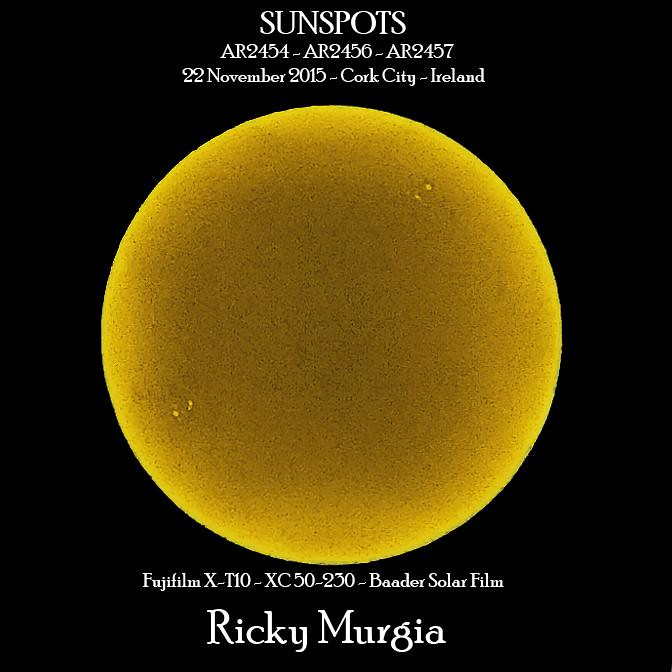 Active Regions on our sun 22 November 2015