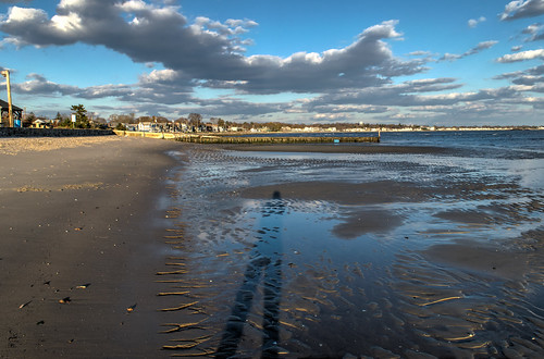 ocean shadow sky beach water clouds outdoors sand nikon connecticut lowtide hdr selfie westbrooktownbeach nikond5300