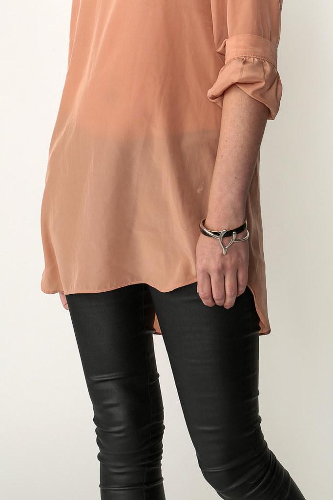 popbasic,wishbone bracelet, pink tunic,