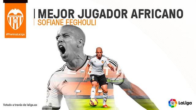 Premios La Liga: Sofiane Feghouli - Mejor Jugador Africano