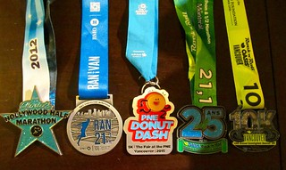 My 2015 race medals