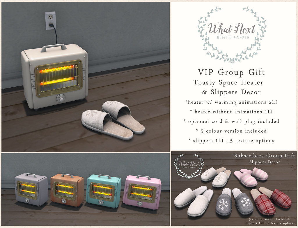 {what next} New VIP & Subscriber Group Gifts