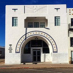 Marfa National Bank, Donald Judd's main studio space #marfa #texas