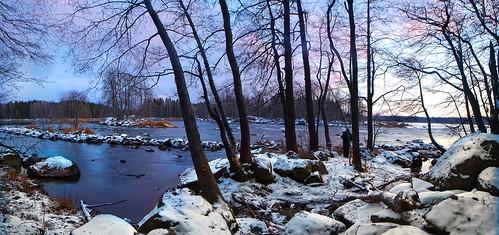 winter river rapid ahvionkoski anjala finland laowa 15mm photographer