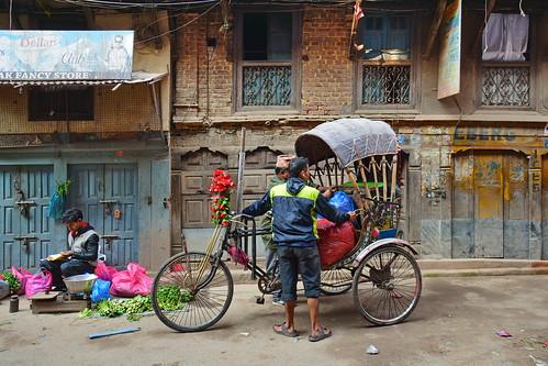 Nepal - Kathmandu - Streetlife With Cycle Rickshaw - 107