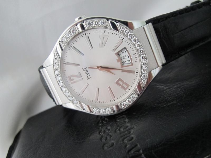 Bán đồng hồ Piaget Polo – Vàng trắng 18k – dây da – kim cương – size 43mm