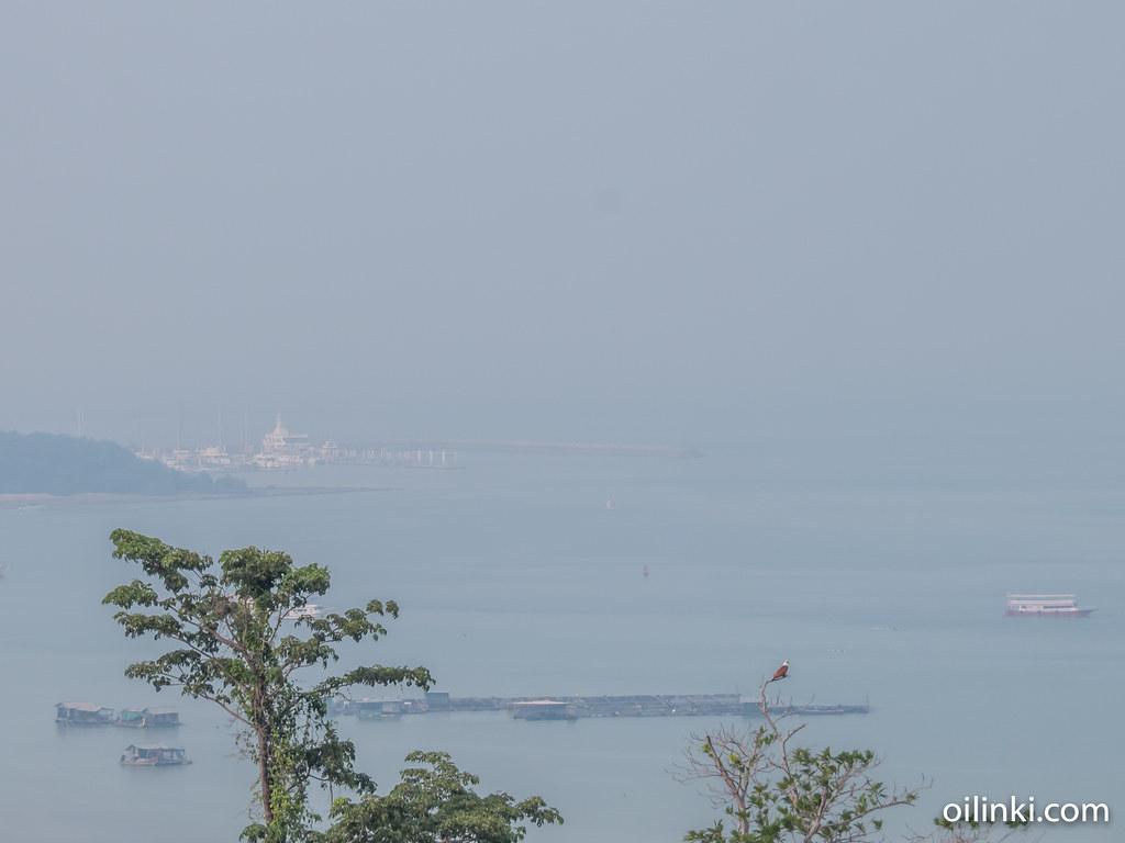 Ao Por Grand Marina in fog, Phuket, Thailand