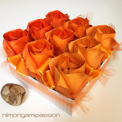 Origami Ombre Roses