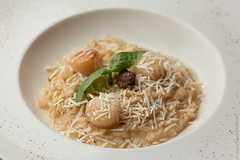 Risotto with Mushrooms and Scallops