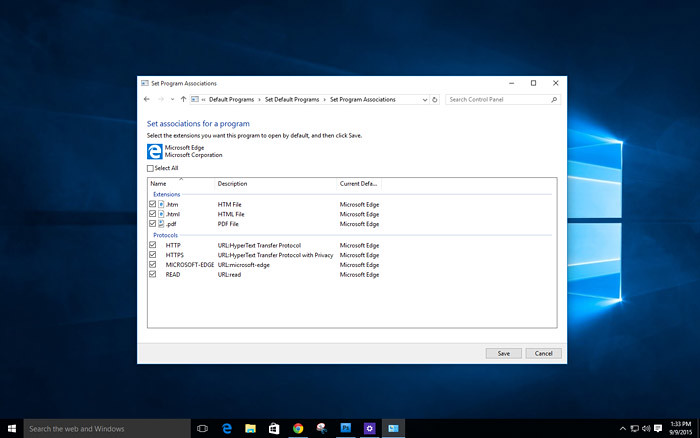 how to change default app in windows 10