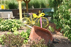 Flowers and Bikes at Sollecito Landscaping Nursery