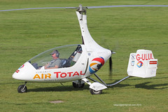 G-ULUL - 2010 build Rotorsport UK Calidus, taxiing for departure after a brief fuel stop at Barton