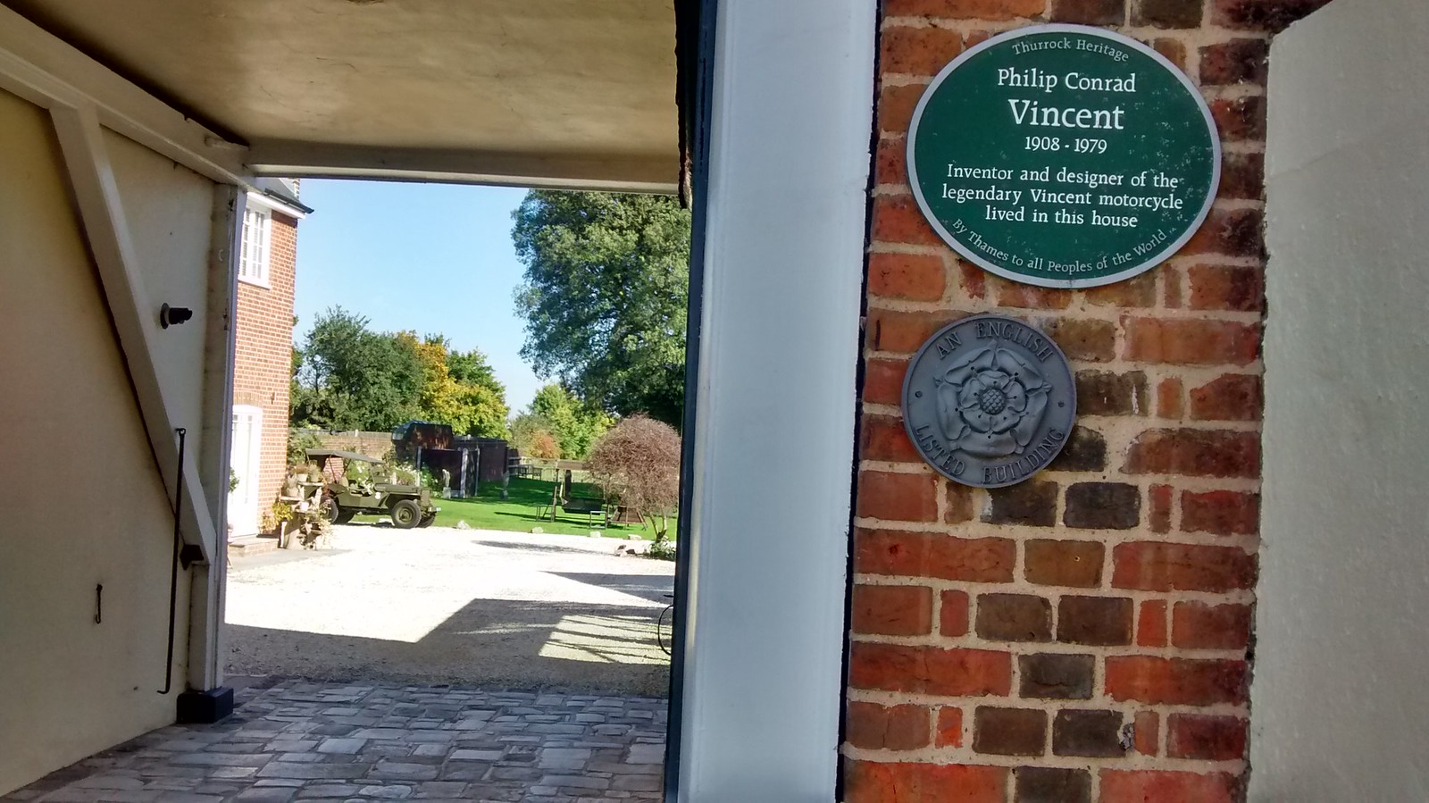 Vincent Motorbike Plaque In Horndon on the Hill. Bikers will probably remember the Black Shadow ...