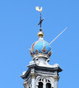 Amsterdam detail of Westerkerk tower by rowchester
