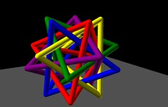 Interlocking colored tetrahedrons