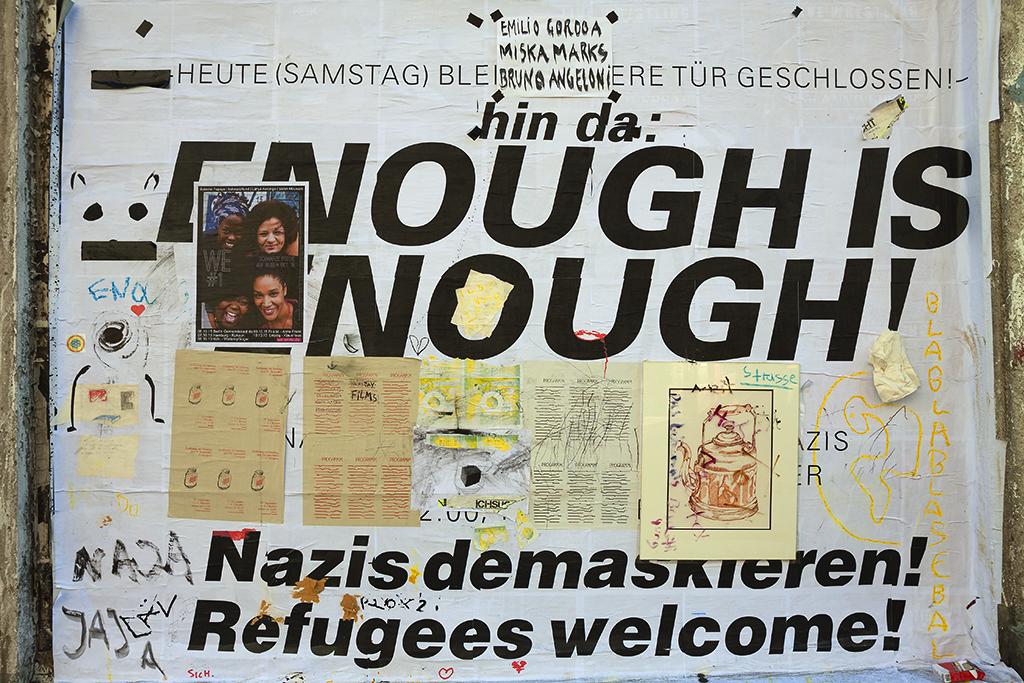 NAZIS DEMASKIEREN poster and SCHWARZ POESIE flyer--Leipzig