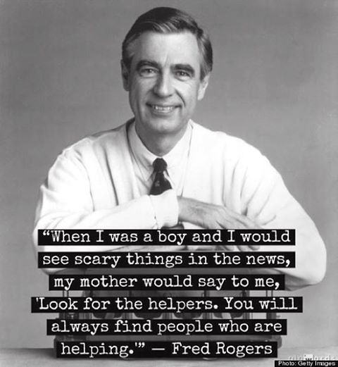 Notice the helpers. - Mr Rogers Mom from Flickr via Wylio