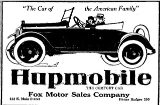 Fox Motor Sales ad, 4/22/1920