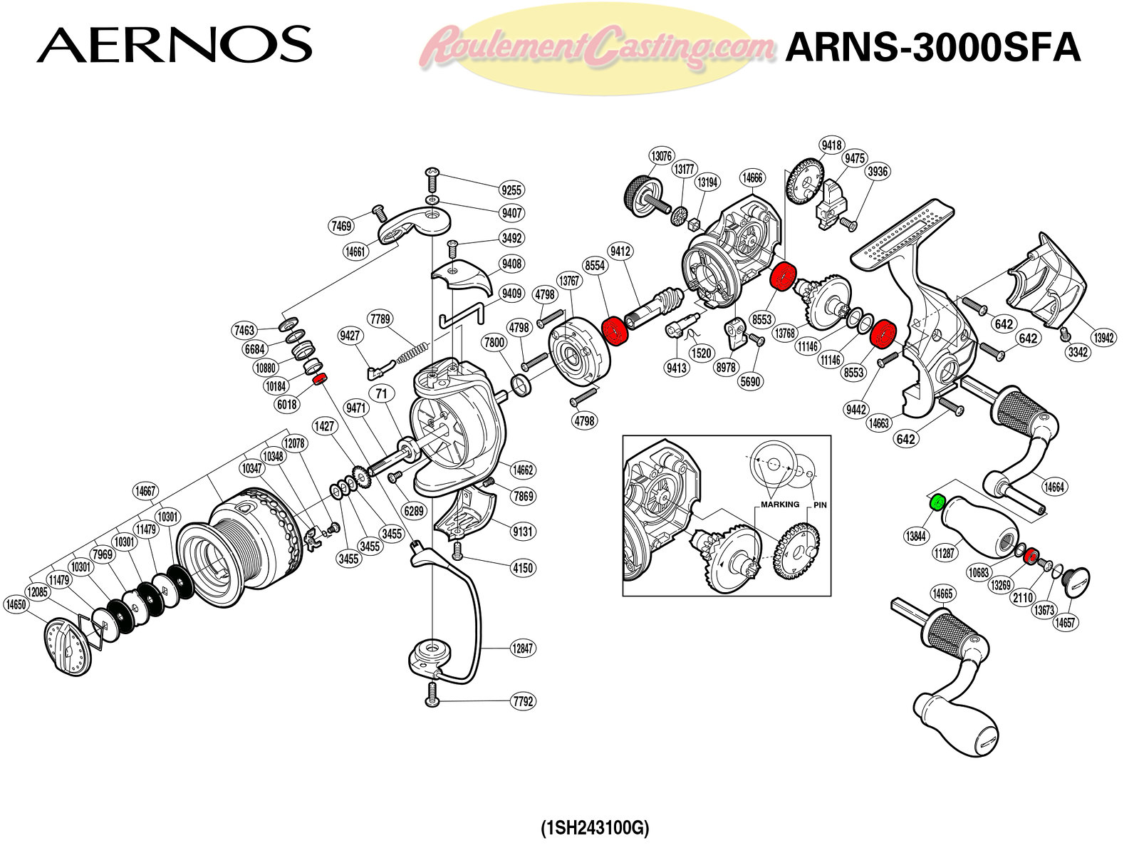 Schema-Shimano-AERNOS-3000SFA