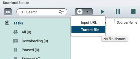 เลือก Torrent File