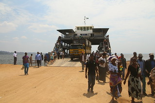 Our ferry on Lake Victoria.