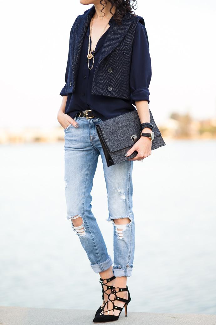 Cropped Blazer Vest