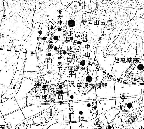 大神台遺跡周辺の小字